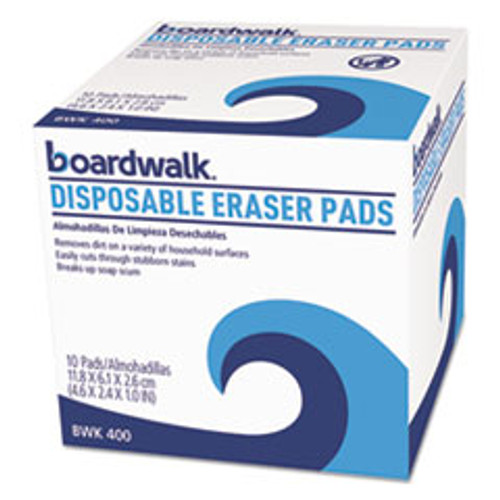 Boardwalk Disposable Eraser Pads  10 Box  16 Boxes Carton (BWK600CT)