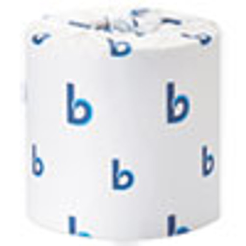 Boardwalk Office Packs Standard Bathroom Tissue  Septic Safe  2-Ply  White  350 Sheets Roll  48 Rolls Carton (BWK6148)
