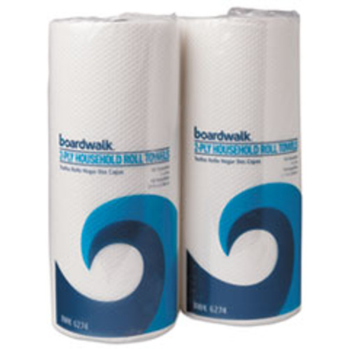 Boardwalk Household Perforated Paper Towel Rolls  2-Ply  9 x 11  White  100 Roll  30 Rolls Carton (BWK6277)