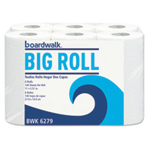 Boardwalk Office Packs Perforated Paper Towel Rolls  2-Ply  White  5 5x11  140 Roll  24 Ct (BWK6279CT)