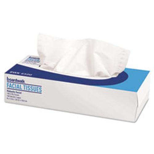 Boardwalk Office Packs Facial Tissue  2-Ply  White  Flat Box  100 Sheets Box  30 Boxes Carton (BWK6500B)