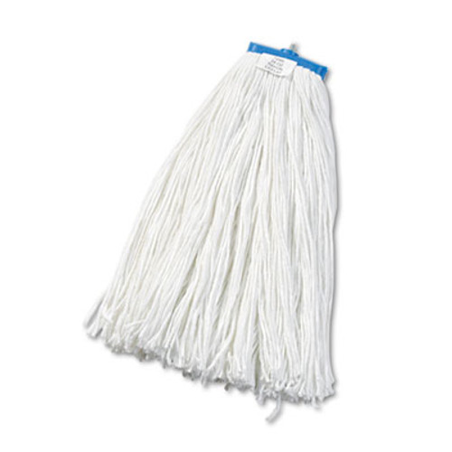 Boardwalk Cut-End Lie-Flat Wet Mop Head  Rayon  24oz  White  12 Carton (BWK724RCT)