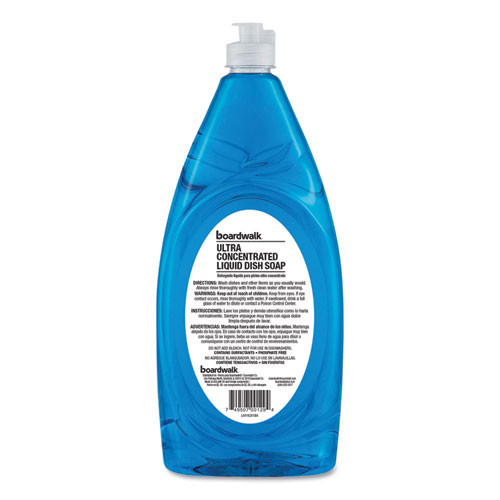 Boardwalk Ultra Concentrated Liquid Dish Soap  Clean  40 oz  6 Carton (BWK7440)