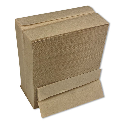 Boardwalk Tall Fold Dispenser Napkins  1-Ply  13 x 6  Kraft  500 Pack  20 Packs Carton (BWK8303K)