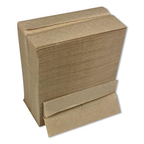 Boardwalk Tall Fold Dispenser Napkins  1-Ply  13 x 6  Kraft  500 Pack  20 Packs Carton (BWK8303K)