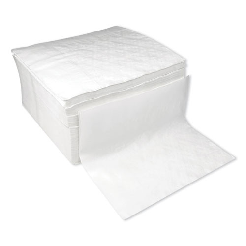 Boardwalk Dinner Napkin  17  x 17   White  3000 Carton (BWK8307W)