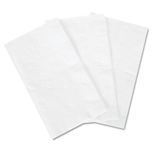 Boardwalk Dinner Napkin  15  x 17   White  3000 Carton (BWK8308W)