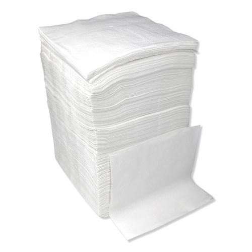 Boardwalk 1 4-Fold Lunch Napkins  1-Ply  12  x 12   White  6000 Carton (BWK8310W)