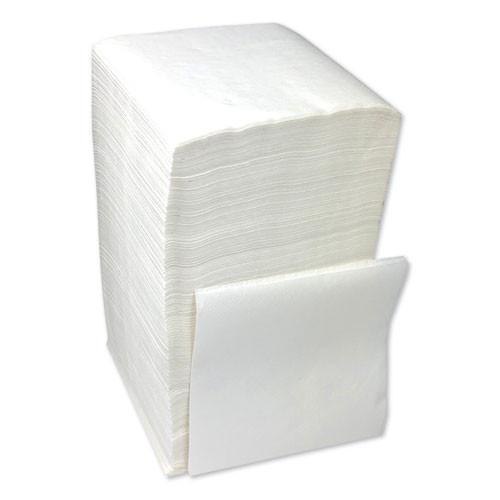 Boardwalk Beverage Napkins  1-Ply  9 5  x 9   White  4000 Carton (BWK8317W)