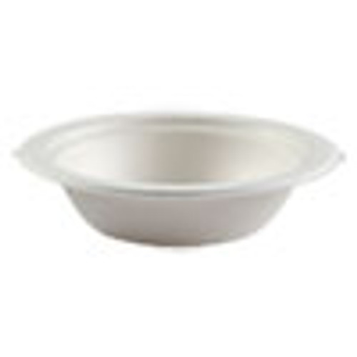Boardwalk Bagasse Molded Fiber Dinnerware  Bowl  6 25  Diameter  White  1 000 Carton (BWKBOWLWF12)