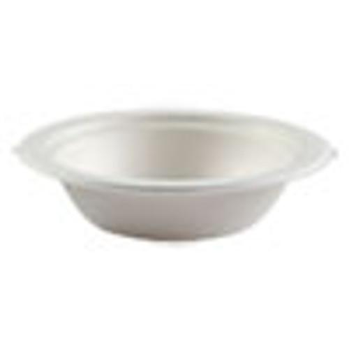 Boardwalk Bagasse Molded Fiber Dinnerware  Bowl  6 25  Diameter  White  1 000 Carton (BWKBOWLWF12)