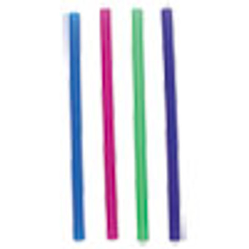 Boardwalk Unwrapped Colossal Straws  8 1 2   Blue  Green  Pink  Purple  4000 Carton (BWKCSTU85N)