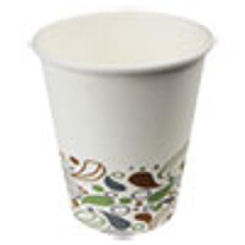 Boardwalk Deerfield Printed Paper Hot Cups  8 oz  20 Cups Sleeve  50 Sleeves Carton (BWKDEER8HCUP)