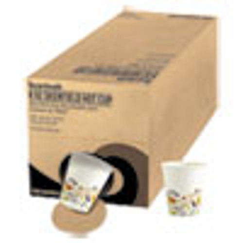 Boardwalk Convenience Pack Paper Hot Cups  8 oz  Deerfield Print  9 Cups Sleeve  34 Sleeves Carton (BWKDEER8HCUPOP)