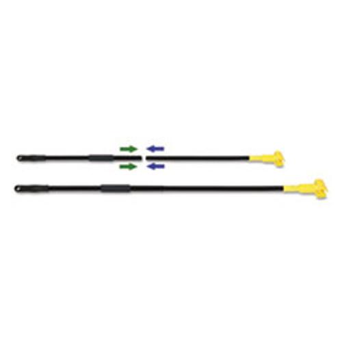 Boardwalk Two-Piece Metal Handle with Plastic Jaw Head  59  Handle  Black Yellow (BWKFF610)
