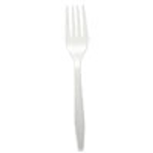 Boardwalk Heavyweight Polypropylene Cutlery  Fork  White  1000 Carton (BWKFORKHWPPWH)
