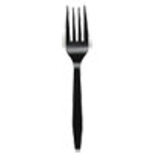 Boardwalk Mediumweight Polystyrene Cutlery  Fork  Black  1000 Carton (BWKFORKMWPSBLA)