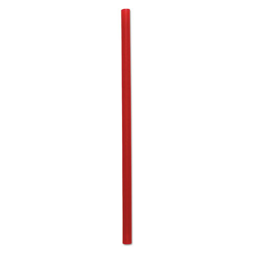 Boardwalk Wrapped Giant Straws  7 3 4   Red  2000 Carton (BWKGSTW775R)