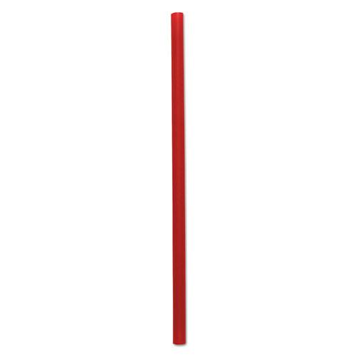 Boardwalk Wrapped Giant Straws  7 3 4   Red  2000 Carton (BWKGSTW775R)
