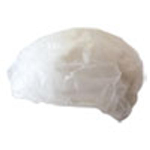 Boardwalk Disposable Bouffant Caps  White  Medium  100 Pack (BWKH42M)