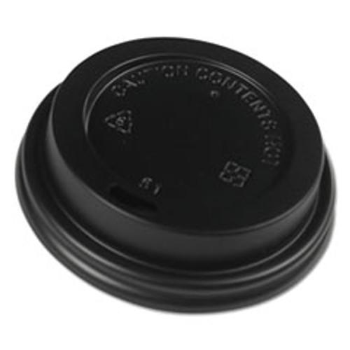 Boardwalk Hot Cup Lids  Fits 8 oz Hot Cups  Black  1000 Carton (BWKHOTBL8)