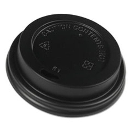 Boardwalk Hot Cup Lids  Fits 8 oz Hot Cups  Black  1000 Carton (BWKHOTBL8)