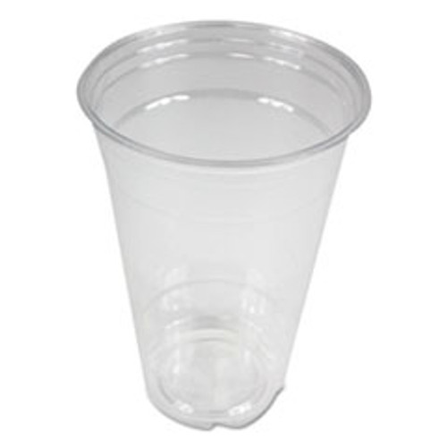 Boardwalk Clear Plastic Cold Cups  20 oz  PET  20 Cups Sleeve  50 Sleeves Carton (BWKPET20)