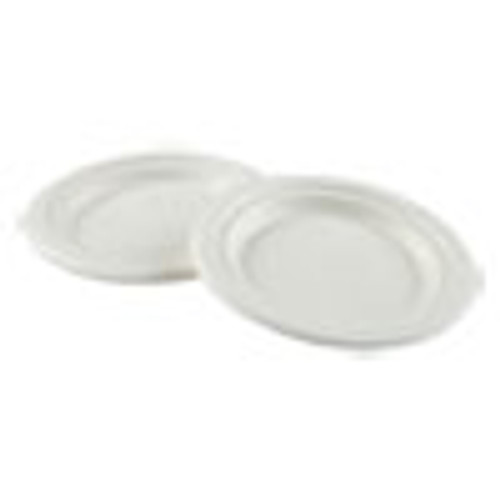 Boardwalk Bagasse Molded Fiber Dinnerware  Plate  6  Diameter  White  1 000 Carton (BWKPLATEWF6)