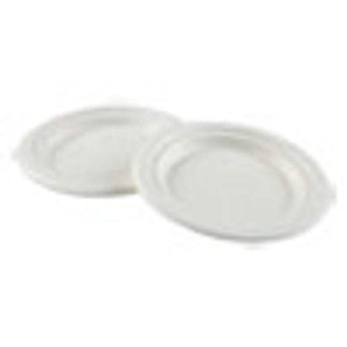 Boardwalk Bagasse Molded Fiber Dinnerware  Plate  6  Diameter  White  1 000 Carton (BWKPLATEWF6)