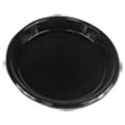 Boardwalk Hi-Impact Plastic Dinnerware  Plate  10  Diameter  Black  500 Carton (BWKPLHIPS10BL)