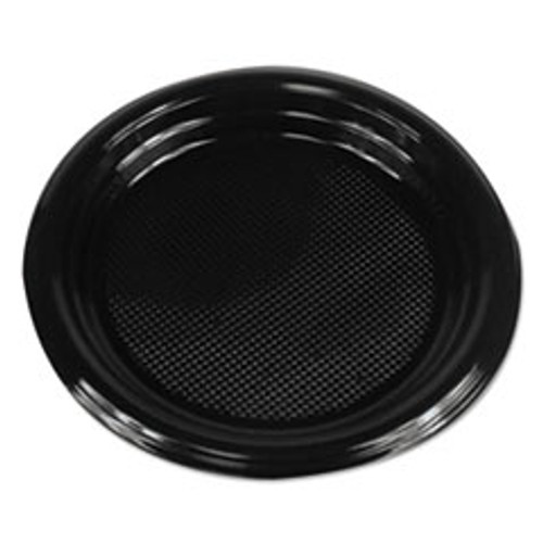 Boardwalk Hi-Impact Plastic Dinnerware  Plate  6  Diameter  Black  1000 Carton (BWKPLTHIPS6BL)