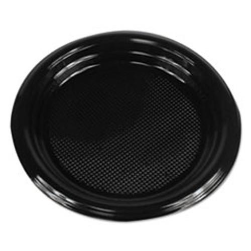 Boardwalk Hi-Impact Plastic Dinnerware  Plate  6  Diameter  Black  1000 Carton (BWKPLTHIPS6BL)