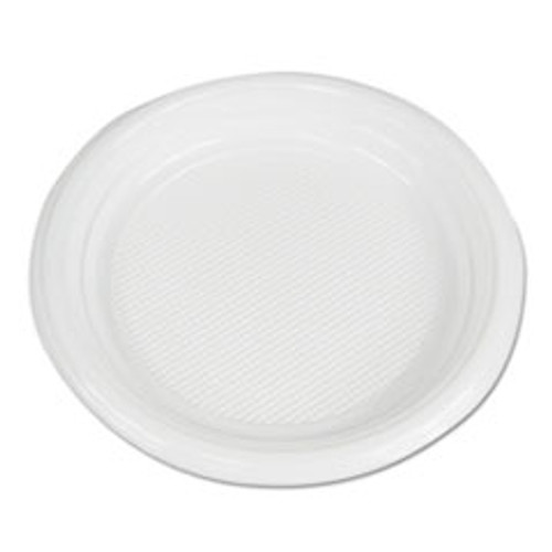 Boardwalk Hi-Impact Plastic Dinnerware  Plate  6  Diameter  White  1000 Carton (BWKPLTHIPS6WH)