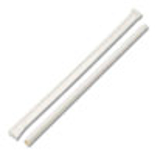 Boardwalk Individually Wrapped Paper Straws  7 3 4  x 1 4   White  3200 Carton (BWKPPRSTRWWR)