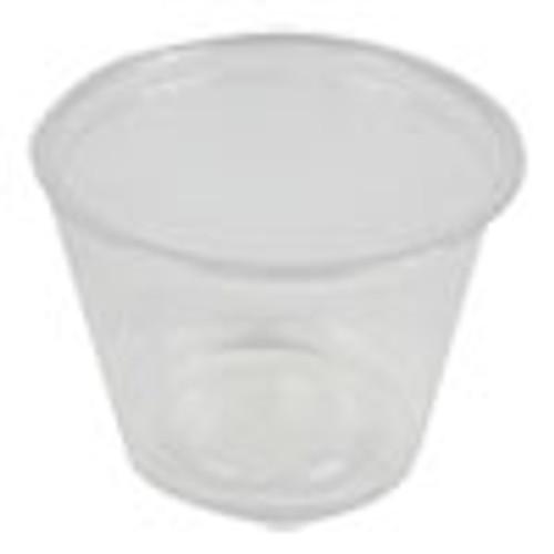 Boardwalk Souffl    Portion Cups  1 oz  Polypropylene  Clear  20 Cups Sleeve  125 Sleeves Carton (BWKPRTN1TS)