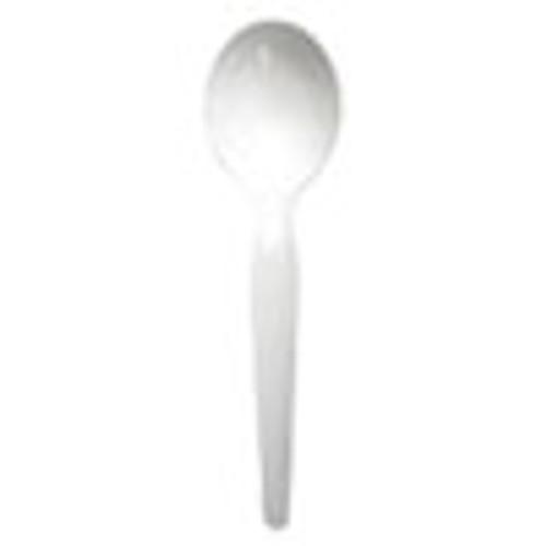Boardwalk Heavyweight Polystyrene Cutlery  Soup Spoon  White  1000 Carton (BWKSOUPHWPSWH)