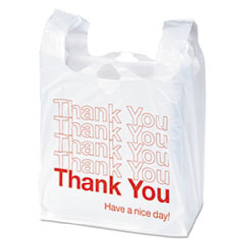 Boardwalk Plastic Thank You Bags  14 Microns  11 5 x 6 x 22  White  1000 Carton (BWKTB1122)