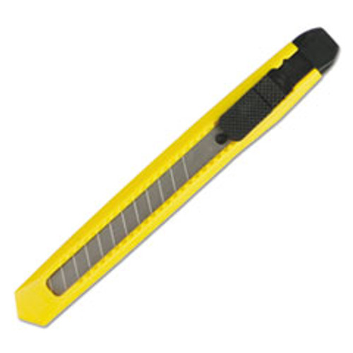 Boardwalk Snap Blade Knife  Retractable  Snap-Off  Straight-Edged  Yellow (BWKUKNIFE75)