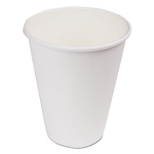 Boardwalk Paper Hot Cups  12 oz  White  20 Cups Sleeve  50 Sleeves Carton (BWKWHT12HCUP)