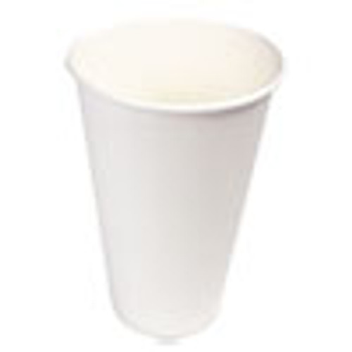 Boardwalk Paper Hot Cups  16 oz  White  20 Cups Sleeve  50 Sleeves Carton (BWKWHT16HCUP)