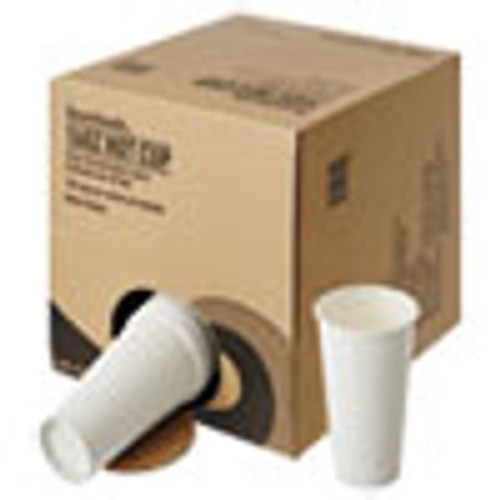 Boardwalk Convenience Pack Paper Hot Cups  16 oz  White  9 Cups Sleeve  20 Sleeves Carton (BWKWHT16HCUPOP)