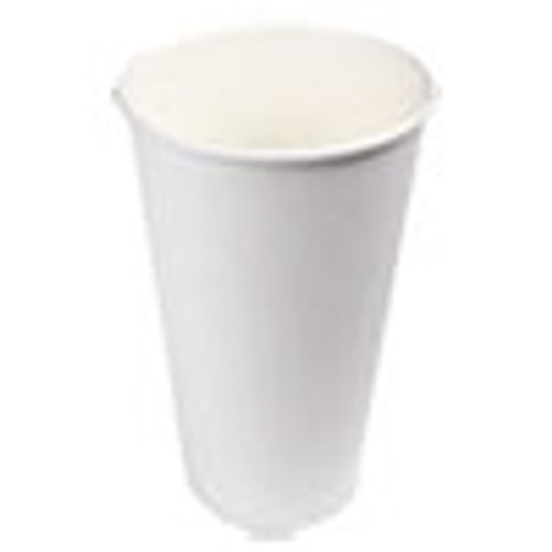 Boardwalk Paper Hot Cups  20 oz  White  12 Cups Sleeve  50 Sleeves Carton (BWKWHT20HCUP)