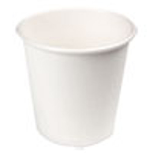 Boardwalk Paper Hot Cups  4 oz  White  20 Cups Sleeve  50 Sleeves Carton (BWKWHT4HCUP)