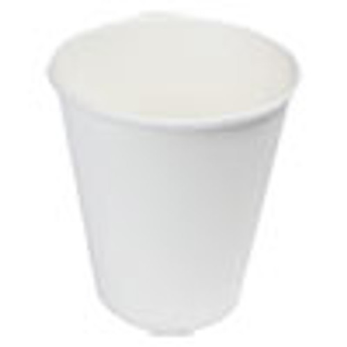 Boardwalk Paper Hot Cups  8 oz  White  20 Cups Sleeve  50 Sleeves Carton (BWKWHT8HCUP)