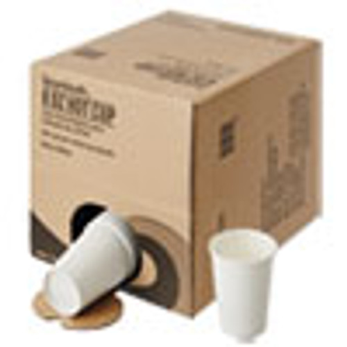 Boardwalk Convenience Pack Paper Hot Cups  8 oz  White  9 Cups Sleeve  34 Sleeves Carton (BWKWHT8HCUPOP)