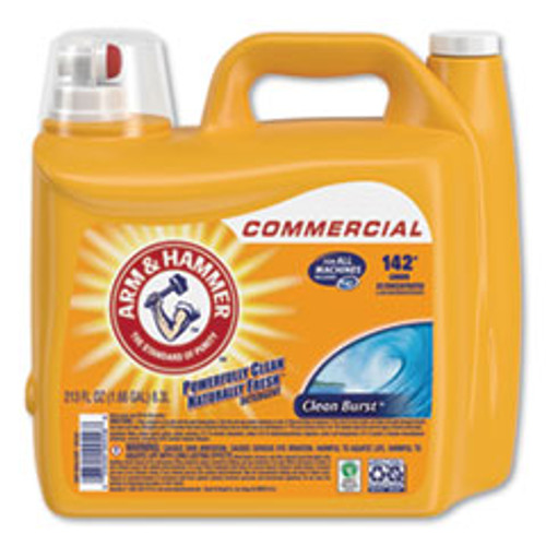 Arm & Hammer Dual HE Clean-Burst Liquid Laundry Detergent  213 oz Bottle  2 Carton (CDC3320000556)