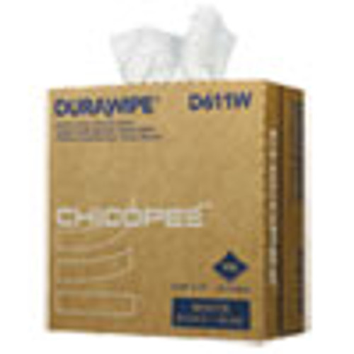 Chicopee Durawipe Medium-Duty Industrial Wipers  8 8 x 17  White  110 Box  12 Box Carton (CHID611W)