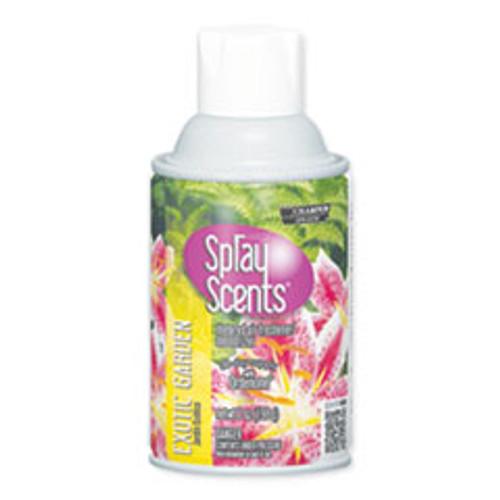 Chase Products Sprayscents Metered Air Fresheners  Exotic Garden Scent  7 oz  12 Carton (CHP5187)