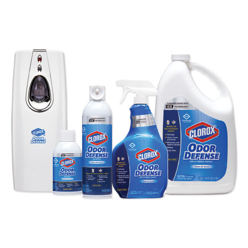 Clorox Commercial Solutions Odor Defense Wall Mount Refill  Clean Air Scent  6 oz (CLO31710EA)