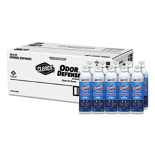 Clorox Commercial Solutions Odor Defense  Clean Air  14 oz Aerosol  12 Carton (CLO31711)